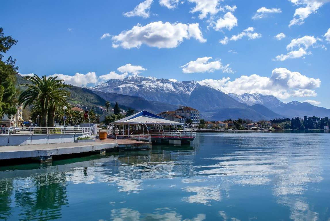 Boardwalk in Tivat, Montenegro